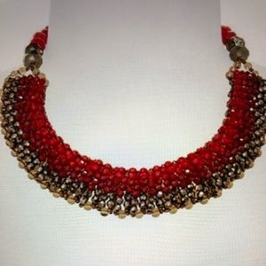 Nakamol Red Collar Necklace